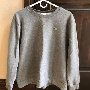 Lacoste devanlay heathered  gray boxy sweater 6
